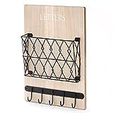 Key Hooks & Mail Organizers – Wall Mount Keys Hanger for Modern & Rustic Decor Living Room, Bedroom