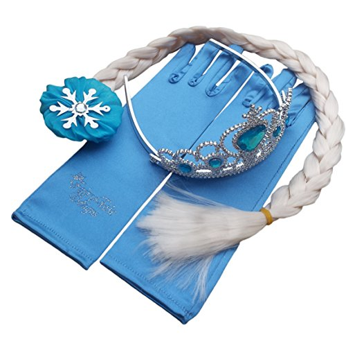 Coffret Cadeau Reine Elsa Princesse Anna Baguette Magique Diadème Strass Elsa Couronne de Cheveux et Gant Fille