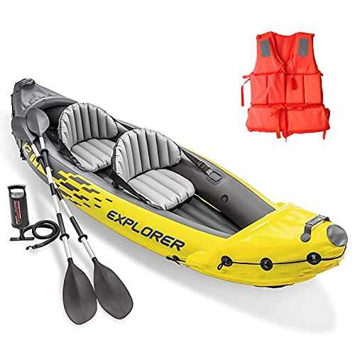 K2 Kayak,Kayak Inflable,Personas Set con Remos de Aluminio y Bomba de Aire de Salida de Alta