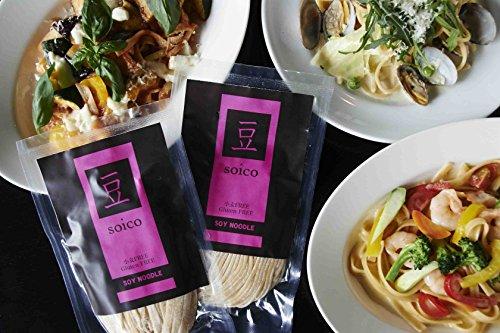 グルテンフリー パスタ(生パスタ) ■お試しセット(2種類×各2袋)■ soico(ソイコ)・SOY PASTA・大豆生麺【フェットチーネ&スパゲティ】