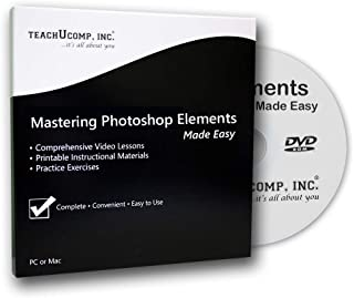 Learn Photoshop Elements 2019 Training Tutorial DVD-ROM Course: A Comprehensive Guide, Video Lessons and PDF Manuals