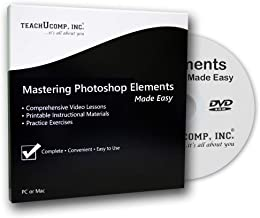 $21 » Learn Photoshop Elements 2018 Training Tutorial DVD-ROM Course: A Comprehensive Guide, Video Lessons and PDF Manuals