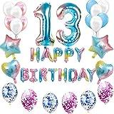 Juego de decoración de cumpleaños para niñas, jóvenes, arco iris,...