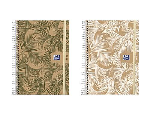 Oxford, Agenda Escolar 2021-2022 Nature, Español, Semana Vista, 12 x 18 cm, Modelos Aleatorios