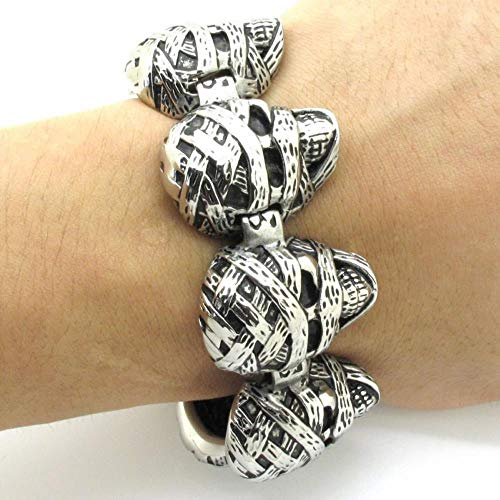 ASIG Fashion Cross Gesp Mens Enorme Zware RVS Lelijke Mama Schedels Bangle Armband Ketting
