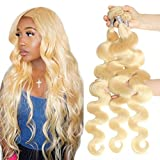 8-40Inch 30 30 30 Inch Brazilian 613 Blonde 3 Bundles Body Wave 100% Human Hair Weave Remy Hair Extensions Queen Plus Hair(only bundles 30 30 30inch)