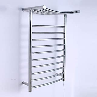 HL Baño eléctrico Cromado Recto calienta Toallas Carril Calentador Radiador, termostático Calentador eléctrico de Toallas de Carril de baño Radiador, para Cuarto de baño (800 * 520 * 300)