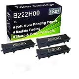 Paquete de 3 cartuchos de impresora compatibles con Lexmark B222H00 de alto rendimiento para impresoras Lexmark B2236DW, MB2236ADW, MB2236ADWE