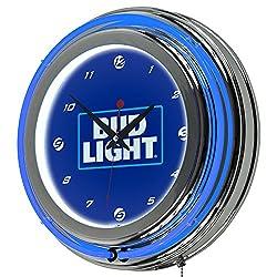 Trademark Gameroom AB1400-BL-16 Bud Light 14 Neon Wall Clock - Block Text