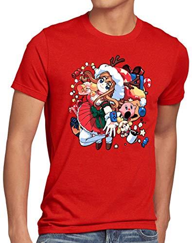 A.N.T. X-mas Gamer Girl Suéter de Navidad Camiseta para Hombre T-Shirt Sweater x-mas SNES, Talla:L,...
