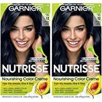 Garnier Hair Color Nutrisse Nourishing Hair Color Creme 12 Natural Blue Black 2 Count [並行輸入品]