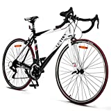 Goplus Commuter Bike Road Bike Quick Release Aluminum 700C Shimano 21 Speed (Red)