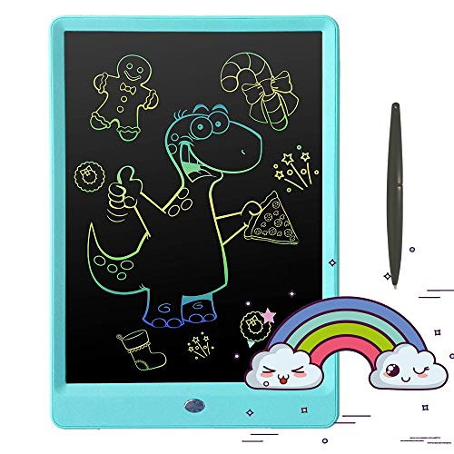 Pilipada LCD Writing Tablet Colorful Drawing Tablet, 10 Inches Drawing Board Doodle Pad, Kids Early Educational Writing Board Learing Toys for 2 3 4 5 6 Years Old Boy and Girls Gifts
