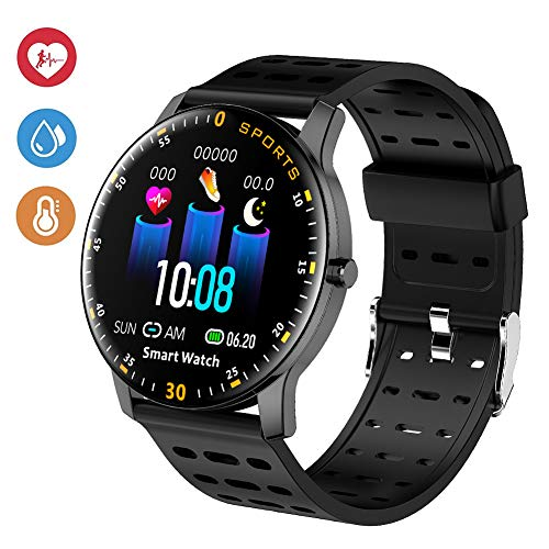 Deyawe Fitness Tracker Watch, IP68 Waterproof Activity Trackers with Heart Rate, 2019 Updated Version Water Smart Watch with Step Countor Sleep Monitor Calorie Counter for Kids Men Women