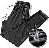 Woshuodfsav Ice Silk Fitness Running Stretch Yoga Pant, Pantalón De Entrenamiento Tejido Elástico para Hombre, Pantalón De Aire Acondicionado, Pantalón para Correr con Cremallera (4XL)
