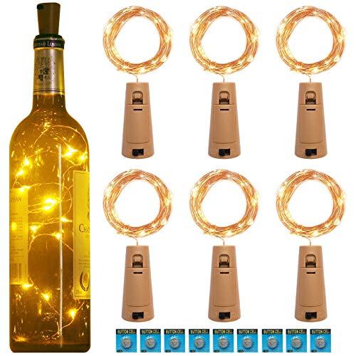 Kolpop 3m 30 LED Luces Botella 6 Pack