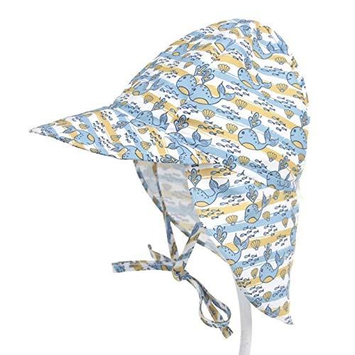 lvenyz Bebé sombrero de sol impresión niño niña secado rápido y transpirable sombrero de sol protección UV niño s verano sombrero