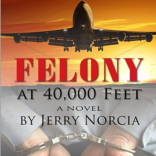 Felony at 40,000 Feet audiobook cover art