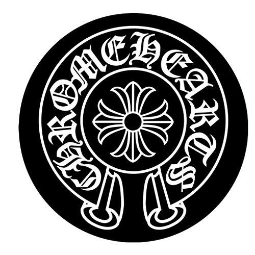 Tapis rond noir et blanc classique Tapis de montage de retardateur miroir photo Bureau Chaise pivotante tapis de protection antidérapant court (taille : 180cm)