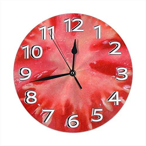 XXNZZJ Co.,ltd Relojes de Mesa de Tomate Decoración silenciosa para el baño del Gimnasio Excelente precisión