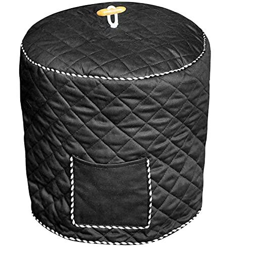 Bolsa de almacenamiento para olla arrocera (negra), cubierta protectora para olla a presión eléctrica 38cm * 36cm, tamaño grande, algodón, con bolsillo