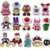 Gwgbxx 25cm Super Mario Bros De La Felpa De La Tierra Bone Koopa Bowser Dragón Oscuro Luigi Yoshi Capitán Kirby Odyssey Muñeca Suave De La Felpa Juguetes De Peluche (Color : Clear)