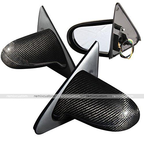 Remix Custom SPN Style Carbon Fiber Power Side Mirrors Compatible with 92-95 Honda Civic 2/3DR EG Coupe Hatchback