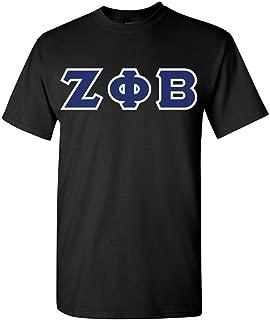 "Zeta Phi Beta Sorority Shirt with 4"" Sewn on Twill Letters – G500"