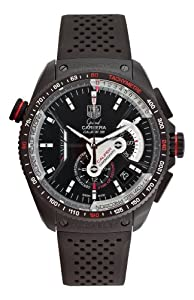 TAG Heuer Men's CAV5185.FT6020 Grand Carrera Automatic Chronograph Black Dial Watch image