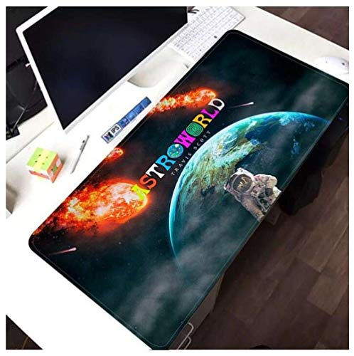 Mouse Pads Cool Travis Scott astroworld 35.4inch x 15.7inch x 0.1inch Laptop Computer pad Large Mouse Pad Keyboards Mat C