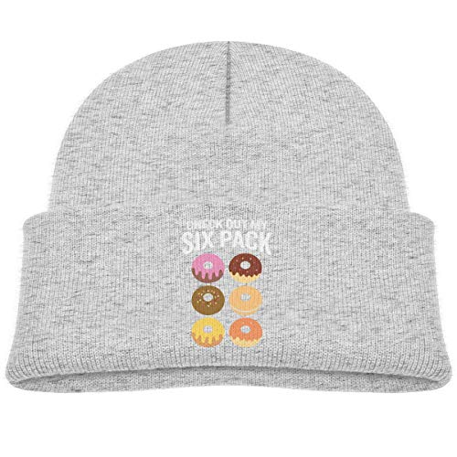 Quintion Robeson CDHL99 Découvrez Mon Six Pack Donut Garçons Filles Bonnet Bonnet Tricoté Enfants Chapeaux Crâne Chaud