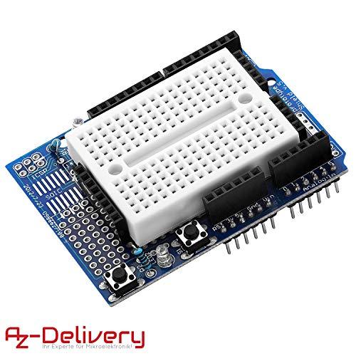 AZDelivery Prototypage Prototype Shield bouclier Mini Breadboard carte d'expérimentation pour Arduino UNO R3