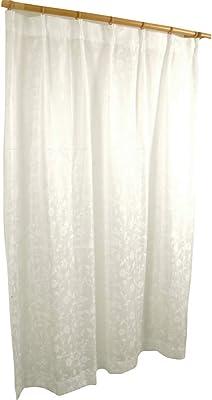 アーリエ(Arie) 日本製 国産 レースカーテン 2枚組 洗える 透けにくい花柄 バラ 装飾レース UVカット 見えにくい クリーム アイボリー 幅100cm×丈176cm 571604