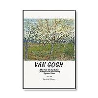 世界的に有名なゴッホ自画像ひまわりキャンバス絵画アートプリント、ポスター印刷、ピクチャフレームレスのキャンバス絵画 5号 15x20cm