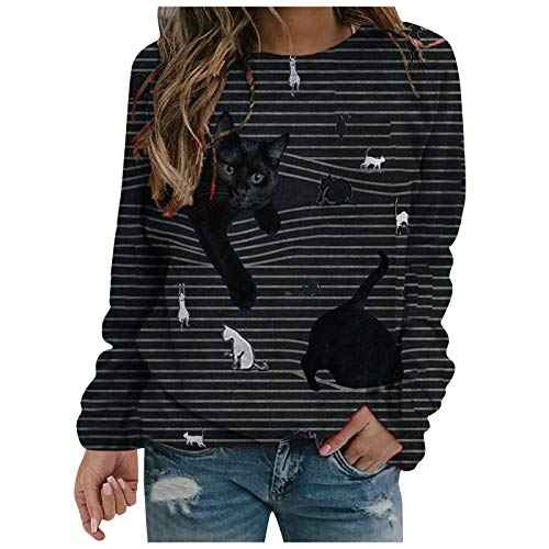 Sweatshirts for Women, Womens Casual Tunic Tops Long Sleeve Shirts Leopard Print Patchwork Pullover Graphic Tee Top Blouse Fall Clothes Grey