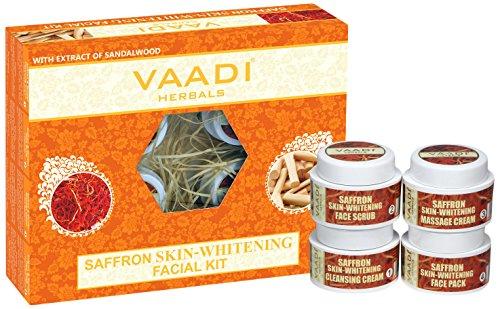 Vaadi Herbals - Saffron Skin Whitening Facial Kit With Sandalwood Extract 70 gms