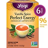Yogi Tea - Vanilla Spice Perfect Energy - Energizes and Supports Focus - 6 Pack, 96 Tea Bags Total