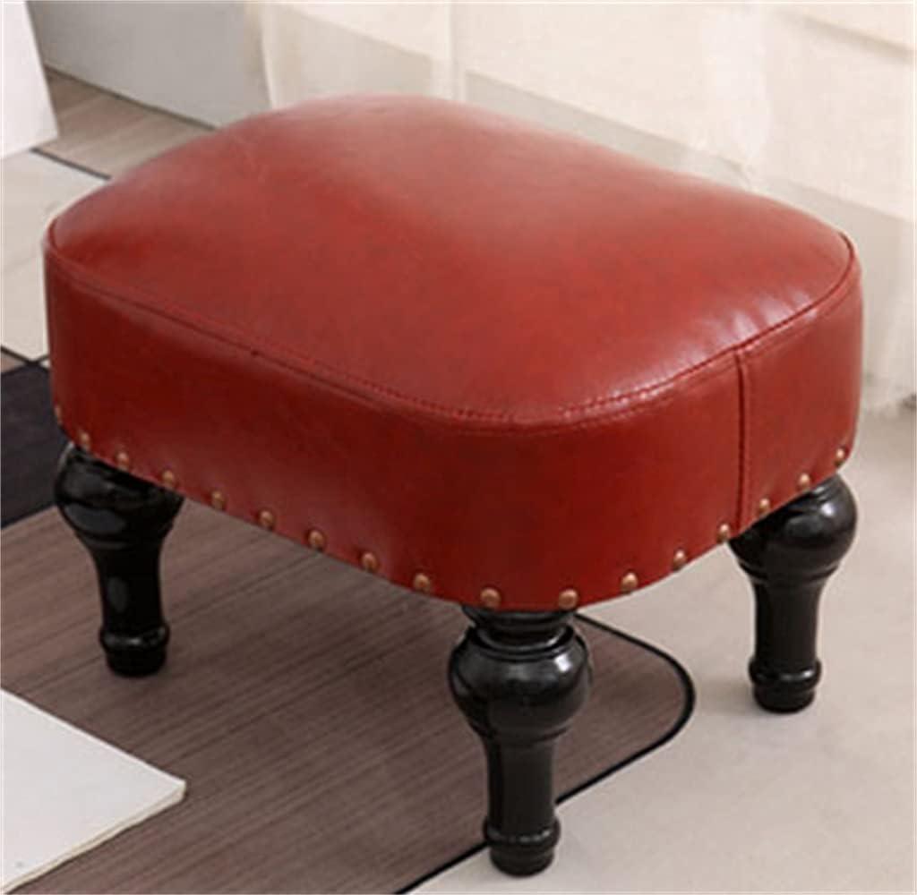 HUER Rectangular Small Footstool Super sale Ottoman Leather Solid Phoenix Mall
