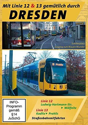 Dresden - Mit Linie 12 & 13 gemütlich durch Dresden - Straßenbahnmitfahrten