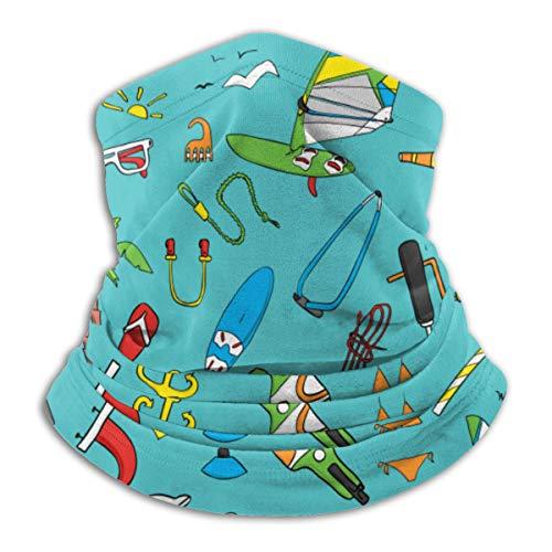 Bandana Kopfbedeckung Schal zum Laufen Radfahren Angeln Sport Indoor Outdoor Modische Kleidung, Schönes Windsurfbrett mit einer Segel Neoprenanzug Sonnenbrille