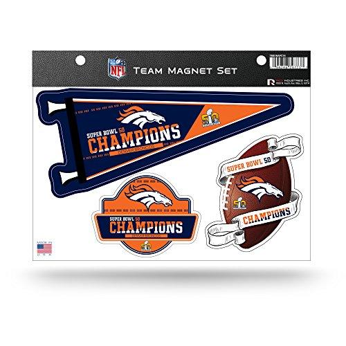 RICO NFL Denver Broncos Super Bowl 50 Champions Team Magnet Set,8.5-Inch by 11-Inch,Blue