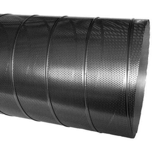 Wickelfalzbuis geperforeerd verzinkt 1 m lang 3,0 mm geperforeerde plaat Ø 80 tot Ø 300 mm 300 mm