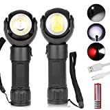 LED Work Light,Micro USB Rechargeable Flashlight 600 Lumen T6 + COB LED torch with Magnetic Base 360°Rotate 7 Lighting Modes with 18650 Battery Inspection Lamp for Car Repair, Home Using and Emergency