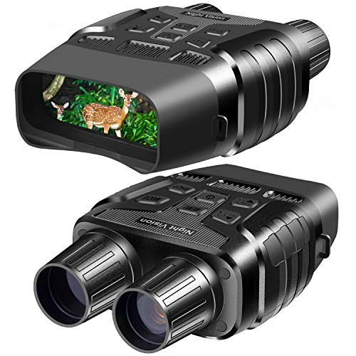 Night Vision Goggles, Digital Infrared Night Vision Binoculars with Take HD Photo & 980P Video from 300m / 984ft in Total Darkness, Night Goggles with 2.31