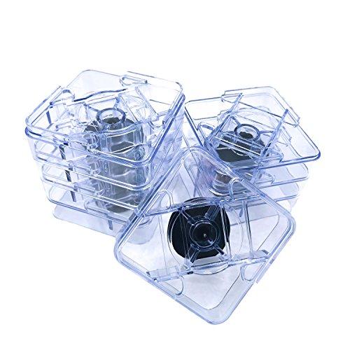 Variable Untersetzer zur Erhöhung von Betten, Tischen und anderen Möbeln, strapazierfähig, 8Stück, transparent