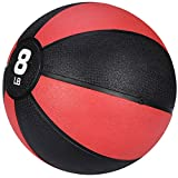 F2C 8 lbs Medicine Ball Workout Med Ball for Core Strength, Balance, Coordination Exercise Non-Slip Rubber Shell Textured Surface …