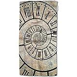 W-wishes Reloj de Toalla de baño, Reloj Espiral de Tiempo Sepia Vintage Toalla de Mano Toalla de Cara