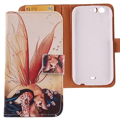 Lankashi PU Flip Leder Tasche Hülle Hülle Cover Schutz Handy Etui Skin Für WIKO Darkfull Wing Girl Design