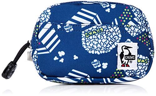[チャムス] ポーチ Eco Dual Soft Case Blue Pop Corn