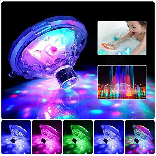 Bizcasa Teichlichter, Pool Licht LED, Schwimmbadlampe,Disco-Partylichter, mehrfarbige Poollichter mit 7 Beleuchtungsmodi für Springbrunnen-Poolbars usw, spa Licht IP68 Wasserdicht, Batteriebetrieben